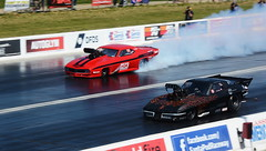 Pro Mods_8959 (Fast an' Bulbous) Tags: doorslammer car vehicle fast speed power drag race track strip pits classic automobile santa pod nikon outdoor motorsport