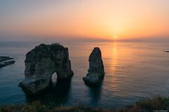 Beirut (pablocba) Tags: beirut beyrut libano lebanon pigeon rocks sunset atardecer