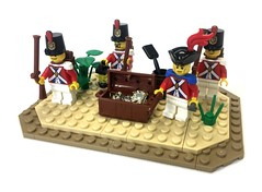 Redcoats Squad (Tijah_Bricks) Tags: lego pirates soldiers troop battlepack base redcoats