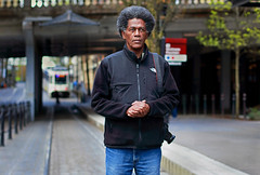 On The Line (Ian Sane) Tags: ian sane images ontheline kennethhowell photographer posing portrait max train tracks 1st avenue mass transit pld town portland oregon saturday market burnside bridge canon eos 5ds r camera ef50mm f14 ism lens bokeh wednesday