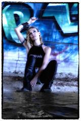 Nicole (Suissecoach) Tags: nicole bridge outdoor model fashion blond face