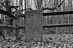 Joseph Pool (ramseybuckeye) Tags: joseph pool headstone tombstone grave highbanks metropark columbus ohio black white monochrome