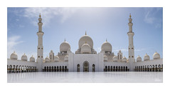 Sheikh Zayed Mosque - Explored! (JRTurnerPhotography) Tags: fujifilm fujix fujixt2 fujinonxf23mmf2 fujifilmx jaketurner jrturnerphotography picture print image photo photography photograph photographer mirrorless mirrorlesscamera april spring 2018 primelens 23mmf2 sheikhzayedmosque mosque abudhabi uae unitedarabemirates middleeast asia grandmosque sheikhzayedgrandmosque islam muslim religion religious religiousbuilding sunniislam marble architecture building minaret domes arches bluesky holiday vacation travel travelling travelphotography
