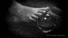 Day 119. (lizzieisdizzy) Tags: blackandwhite blackwhite black beautiful whiteandblack white whiteblack monochrome mono monotone monochromatic male chromatic inside indoors indoor foot toe toes crystal orb ball carpet