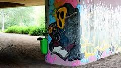 OLDENBURG - BRIDGE GALLERY / bridges near the city center - Brücken in Innenstadtnähe / Graffiti, street art, Brückenkunst - 44th picture (tusuwe.groeber) Tags: projekt project lovelycity graffiti germany deutschland lowersaxony oldenburg streetart niedersachsen city stadt farbig farben favorit colourful colour sony sonyphotographing nex7 bunt red rot art gebäude building gelb grün green yellow abs psk bridgegallery bridge bridges brücke brücken brückenkunst präventionsrat marschweg westfalendamm niedersachsendamm cloppenburgerstrase