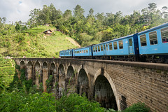 Demodara Nine Arch Bridge (Miha Pavlin) Tags: demodara nine arch bridge sri lanka ella train blue architecture green forest