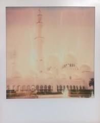 Fading Mosque (o_stap) Tags: ishootfilm abudhabi mosque keepfilmalive polaroidoriginals instantfilm analog polaroid600 polaroid