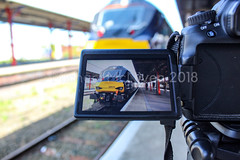 Through the camera (Mike McNiven) Tags: camera canon stockport directrail services drs railway rail train diesel creative camerathroughacamera
