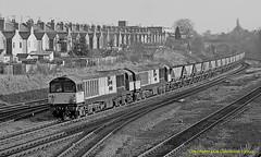 Brace of Bones (Don Gatehouse) Tags: br britishrail brel type5 class58 58001 58006 mgr hoppers didcotpowerstation tyseley birmingham freight fret güterzug coalsector railfreight