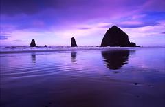 Cannon Beach Reflection (Doug Harms) Tags: oregon cannonbeach color reflection landscape sunset beach