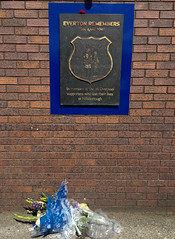 Hillsborough Memorial at Goodison Park (kevertonphoto) Tags: evertonfc walton everton goodisonpark football matchday premierleague premierleaguegrounds
