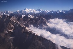Over the Himalaya Range (Jean Ka) Tags: approved nepal népal survol overflight overview überflug himalaya mountain peaks montagnes cimes berge gipfel neige schnee snow nuages clouds wolken mountainscape