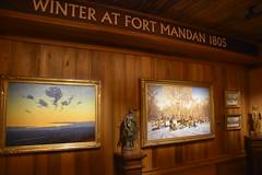 Winter at Fort Mandan 1805 (Adventurer Dustin Holmes) Tags: 2018 wondersofwildlife museum exhibit display fortmandan art paintings artgallery statue