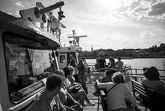 Budapest Cruise (luiebalazs) Tags: budapest bw streetphotography heliar leica leicam8 boat cruise city urban people trip traveling