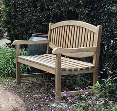 Comfort (Melinda Stuart) Tags: hbm bench seat wood garden uc berkeley facultyclub women hideaway explored explore