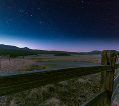 As Night Sets In (MTD Photos) Tags: nmsky newmexico vallescaldera astrophotography dusk fence landscape mattdomonkos mountain nature night nightscape sky space stargazing stars