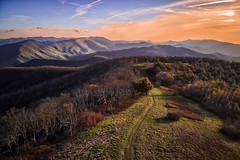 Appalachian Trail on Unaka Mountain Tennessee (josht712) Tags: flickrtravelaward ngc adventure outdoors view forest nature landscape light sky camping hiking clouds air mavic dji drone tennessee unaka trail appalachian mountain sunset