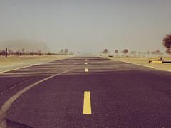 Endless Road (oppisan) Tags: uae dubai sharjah unitedarabemirates panasonic panasoniclumix panasonicg85 panasonicg80 desert sand desolation empty pastel 50mm 25mmf17