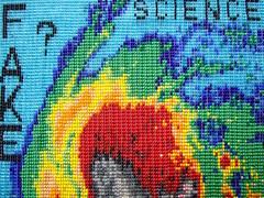 "Hurricane Irma ""detail view"" (Peggy Dembicer) Tags: art artistic design connecticutartist peggycorallodembicer beads beadweaving weaving fiberart diy doityourself mixedmedia hurricane weather nasa hurricaneirma"