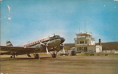 FIT01 (By Air, Land and Sea) Tags: airport postcard aircraft airplane airline dc3 northeastairlines fit fitchburg fitchburgmunicipalairport massachusetts