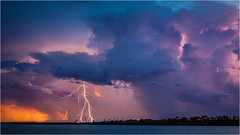 Darwin Harbour storm (beninfreo) Tags: darwin darwinstorm lightning nt northernterritory storm sunset bolt contast canon canon5d3 canon5dmarkiii 1740mml