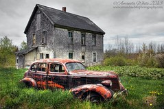 The Old Pontiac (Edit) (sminky_pinky100 (In and Out)) Tags: pontiac abandoned ruraldecay outside abandonedhouse novascotia rural car vehicle rusty forgotten decay omot cans2s