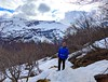 buddy in the snow (ekelly80) Tags: norway geiranger geirangerfjord april2018 spring hike trail storseterfossentrail moøreogromsdal mountains path snow snowy view snowcovered light downhill