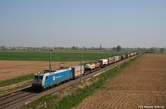 E483.104 DB (Massimo Minervini) Tags: e483 e483104 db tc bolognagallarate pontenure piacenza ferrovia railroads rail train canon400d cassemobili traxx milanobologna italia italy nordcargo