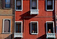 Windows (MelindaChan ^..^) Tags: italy 意大利 murano pattern light shade shadow dry sundried chanmelmel mel melinda melindachan life island village house clothes layers