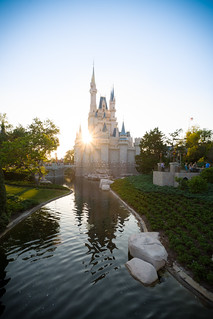 A sunset in between Cinderella Castle