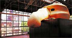 """""""Kanal - Centre Pompidou"""", ancien garage Citroën-Yser, quai des Péniches, Bruxelles, Belgium (claude lina) Tags: claudelina belgium belgique belgië bruxelles brussels musée museum kanal kanalcentrepompidou garagecitroën exposition garagecitrënyser citroën masque mask"""