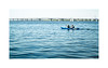 On the river (Alexandr Voievodin) Tags: river kayak canoe landscape water sky people bridge sailingships nikon1v1