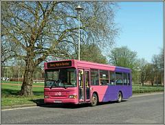 UNO 104 WGC (Jason 87030) Tags: uno 104 wgc bridgeroad trees lamp roadside pink purple kc03pgk campus uni university welwyngardencity herts sunny light color colour sony alpha a6000 ilce nex lens dart pointer slf dennis buses wheels transport