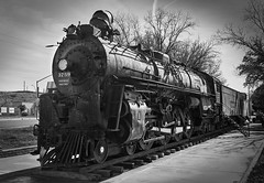 Kingman Loco (Aerogami.com) Tags: kingman arizona engine loco locomotive railroad railway monochrome santafe unionpacific