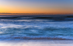 Waves rolling in - Sunrise Seascape (Merrillie) Tags: daybreak wamberalbeach sand sunrise nature australia surf wamberal centralcoast newsouthwales waves earlymorning nsw morning beach ocean sea sky landscape coastal seascape outdoors waterscape dawn coast water seaside