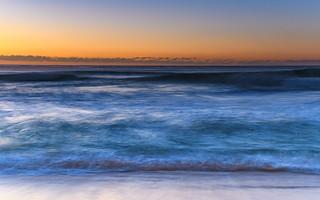 Waves rolling in - Sunrise Seascape