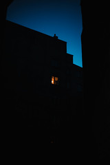 Nightfall (ewitsoe) Tags: cityscape ewitsoe spring warszawa erikwitsoe night poland streetphotography urban warsaw evening lighton building architecture silhouette wawa polska lightfade canoneos6dii 50mm