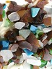 Some of the sea glass that we found during our walks. (letsridebikes.ca) Tags: seagrass sancarlos2018 sancarlos