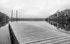 We've Been Distant (John Westrock) Tags: blackandwhite pier water nature wisconsin midwest overcast reflection olympusomdem1mkii olympusmzuikodigitaled1240mmf28