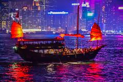 Traditional Fishing Boat at Night on Victoria Harbour - Hong Kong (mbell1975) Tags: hongkong kowloon hk traditional fishing boat night victoria harbour hong kong evening dark light lights water harbor sea china sar hkg vessel ship 香港
