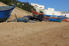 Moulay Bousselham (hans pohl) Tags: maroc moulay bousselham plages beaches houses maisons ships boats
