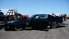 """Blackbird""_9003 (Fast an' Bulbous) Tags: racecar automobile car vehicle doorslammer fast speed power acceleration motorsport drag race track pits santapod nikon outdoor"