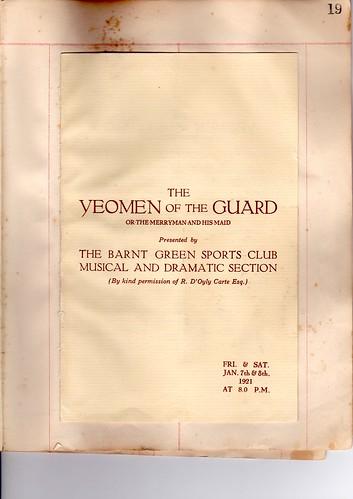 1921: Jan Programme 1