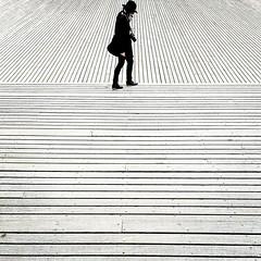 lost in lines (Fotoristin - blick.kontakt) Tags: lines geometry lostinlines blackandwhite person travel