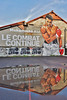 Le combat continue (HBA_JIJO) Tags: streetart urban graffiti ivry ivrysurseine art hbajijo wall mur painting peinture reflection celebrity paris94 spray reflet urbain water eau sportif boxe mohamedali vince paroles fresque