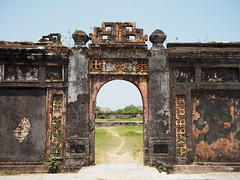 Imperial City, Hue (Hammerhead27) Tags: view citadel vietnam hue imperialcity historic ancient old marked weathered damaged wall door gate