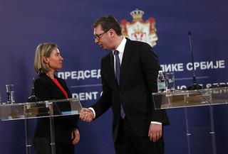 HRVP Mogherni visit in Serbia, April 2018