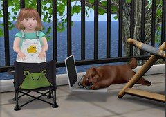 time for a summer tan (play'n dressup) Tags: td blog toddleedooblogger family cute summer romper lambkin grunt booster baby girl alice bento