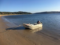 New paintjob - free. New secondhand motor - $850. Now we are fast. (miaow) Tags: bellalunaboat abcmyphoto exploring australia pittwater liveaboard autumn2018 nsw barrenjoey foamy