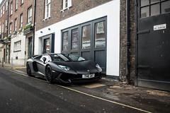 The Bat. (TJHarrington) Tags: lamborghini aventador sv roadster neroopaco mayfair hayesmews londoncars supercarsoflondon car supercar 1of500 alwayscheckthemews
